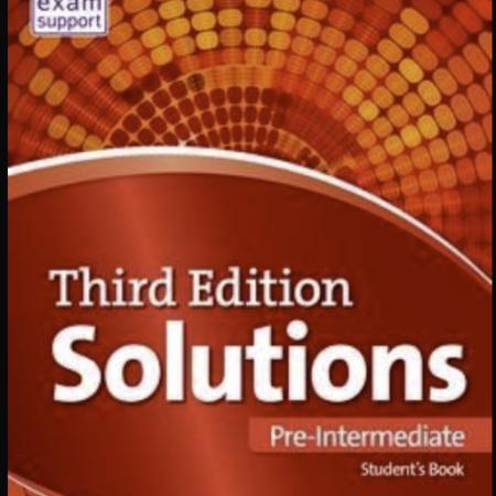 Solutions Pre Intermediate Oxford English